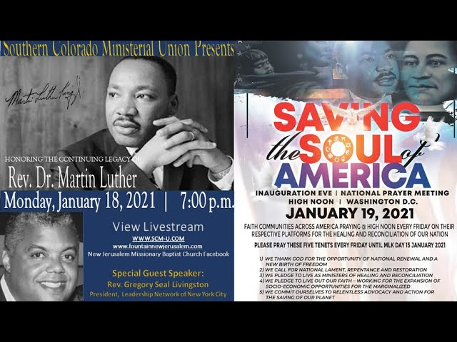 01-18-2021 - Southern Colorado Ministerial Union Honors Marting Luther King