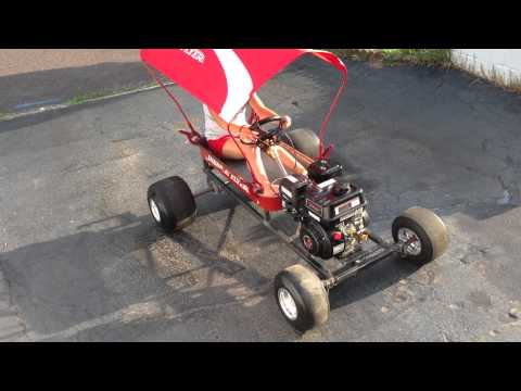 Radio Flyer Wagon Go Kart Front Engine Mounted Youtube