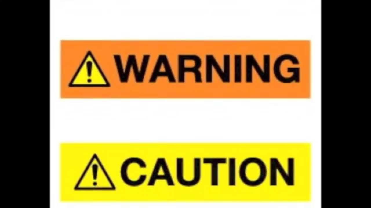 What danger warning or caution signs actually mean quiz youtube buycottarizona Choice Image