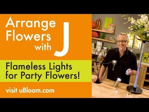 How to Arrange Flowers: Light up Centerpieces!