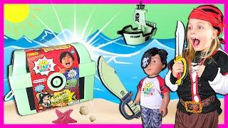 Pirate Treasure Hunt for NEW Ryan's World Glow In The Dark Treasure Chest | Pirate Ryan Doll