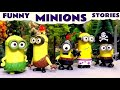 Funny Minions Stories with Thomas and Friends Play Doh Cars Peppa Pig TMNT and Dinosaurs