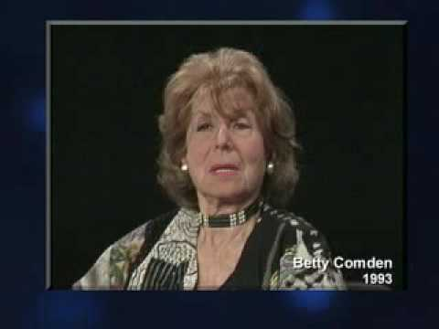 """BETTY COMDEN on The """"Seriousness"""" of Her Work"""