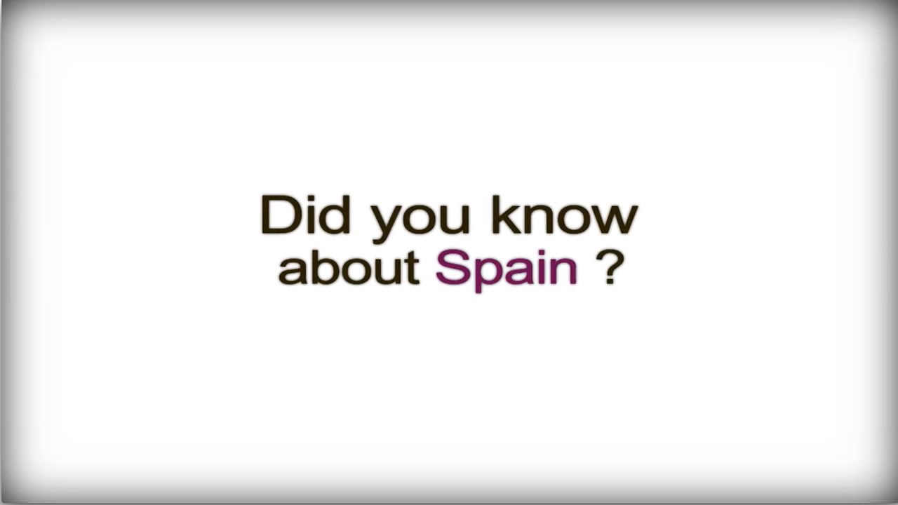 Did you know? - Spain - Spanish Business Culture video