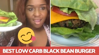 """HOW TO"" Best Low Carb Homemade Black Bean Burger (Easy & Quick Recipe)"