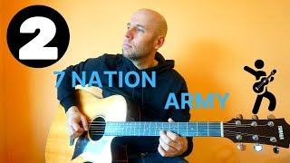 7 Nation Army - Fingerstyle Guitar Tutorial (Видеоурок Часть 2)