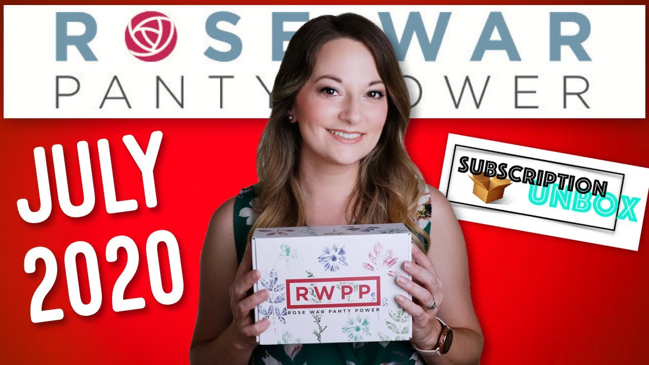 Period Subscription Box - Rose War Panty Power | July 2020