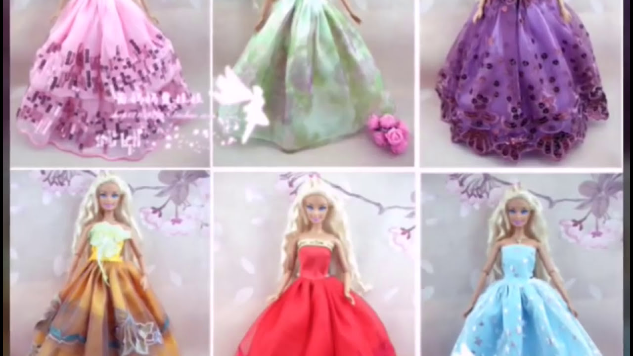 50Beautiful Barbie Gala Vestidos Dresseshermosos De Para Barbies nw80OPk