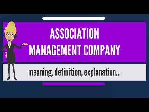 What is ASSOCIATION MANAGEMENT COMPANY? What does ASSOCIATION MANAGEMENT COMPANY mean?