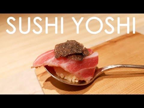 22 Courses Fusion Omakase (2 Starred Michelin)!!! Sushi Yoshi  @ TST, Hong Kong