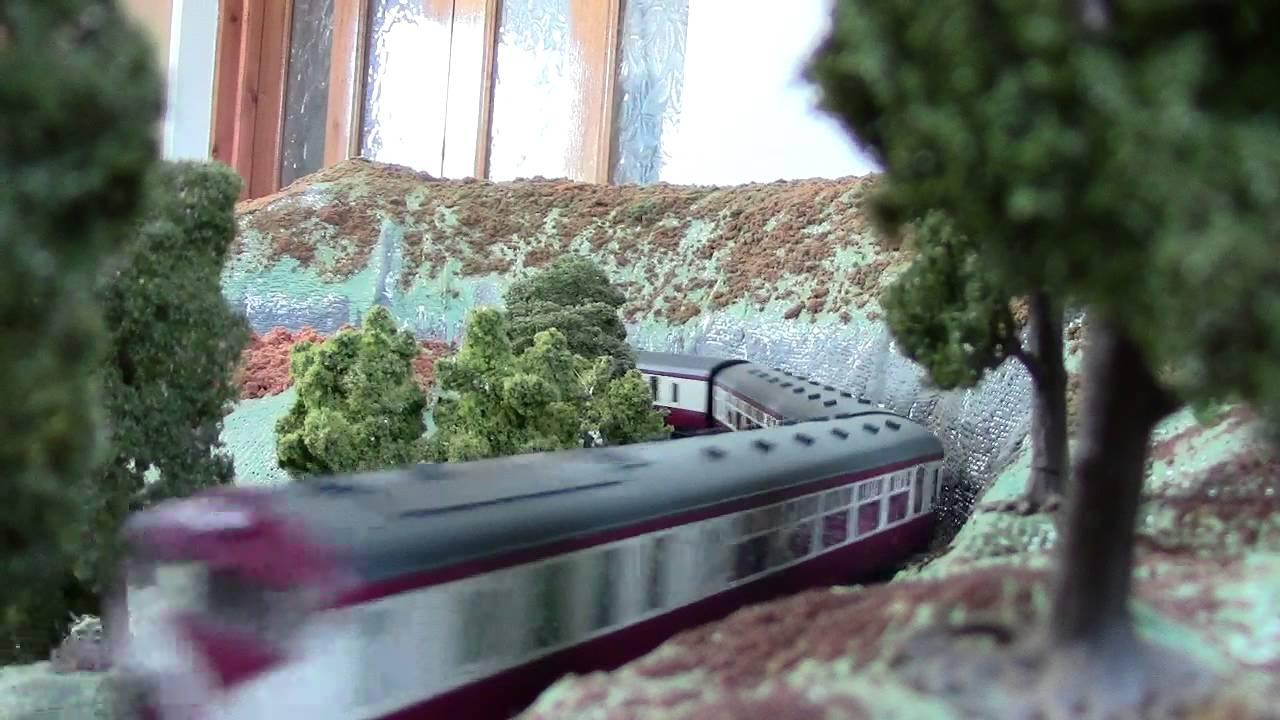 UTA 70 Class Diesel Railcar passes cutting near Blackcut - YouTube