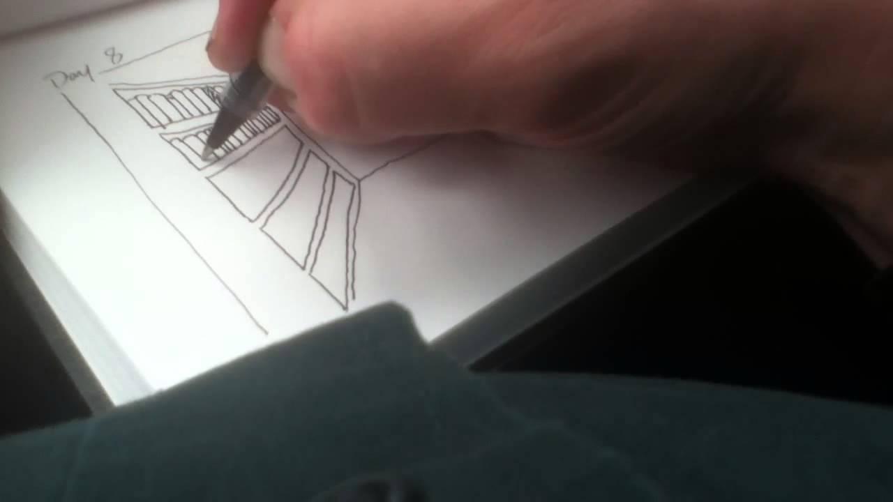 VEDA 2013 Day 8 Drawing Books On Bookshelves