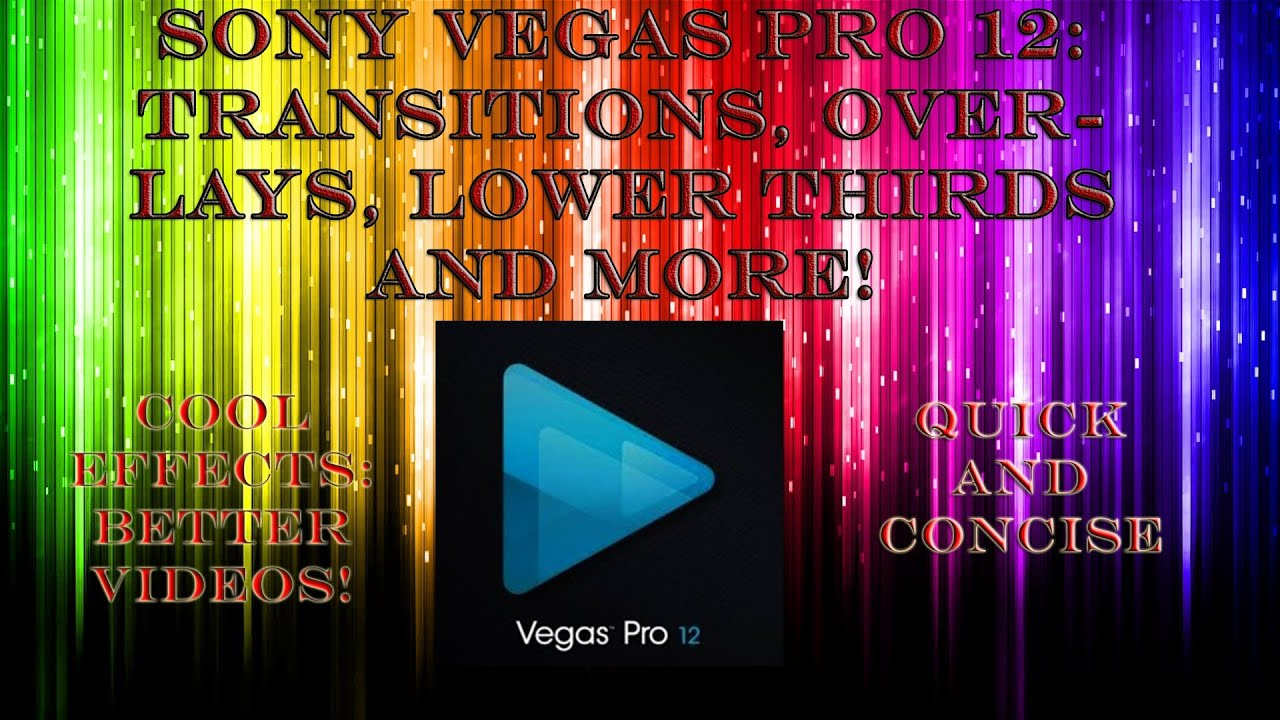 sony vegas how to add a transition