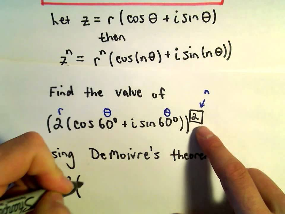 Demoivres Theorem Raising A Complex Number To A Power Ex 1 Youtube