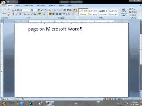 how to make a default microsoft word page