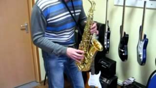 Где купить саксофон / Тест альт саксофона Mercury MAS-285G / Student Series / musik-store.ru
