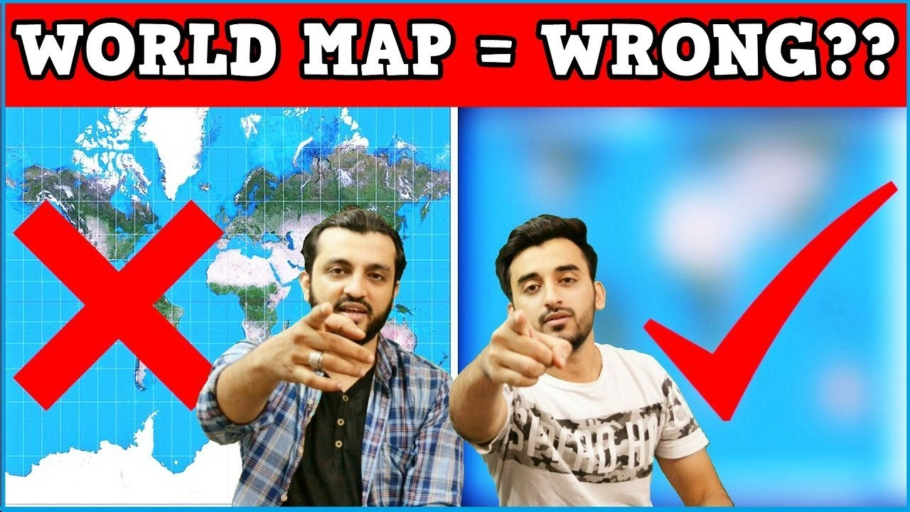 The world map is wrong mistake or conspiracy hindi urdu youtube the world map is wrong mistake or conspiracy hindi urdu gumiabroncs Images
