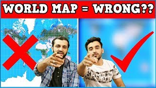 The World Map is WRONG! Mistake or Conspiracy? (Hindi Urdu)