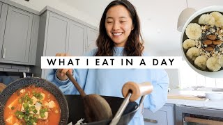 What I Eat In A Day  Korean Recipes (Kimchi Jjigae + Spam Fried Rice)