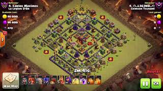 Clash Of Clans- 10 successful war attack replays!