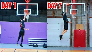 I Trained To Dunk A Basketball For 1 Week And This Happened...