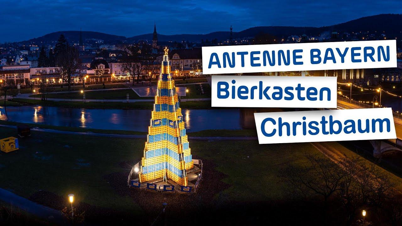 Bierkasten-Christbaum | Weltrekord | ANTENNE BAYERN