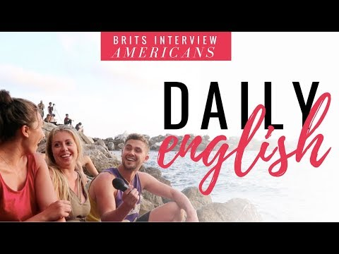 Speak English Like A Native - Brits Interviewing Americans