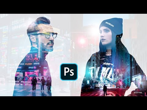 Quick Double Exposure Cyberpunk Photo Effect Photoshop Tutorial