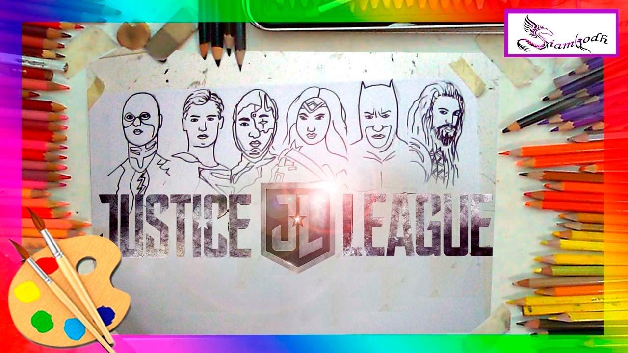 La Liga de la Justicia Tutorial de Dibujo Facil Para niños - YouTube