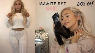 ISAWITFIRST TRY ON HAUL! 50% OFF & GIVEAWAY!! 👗👠👚