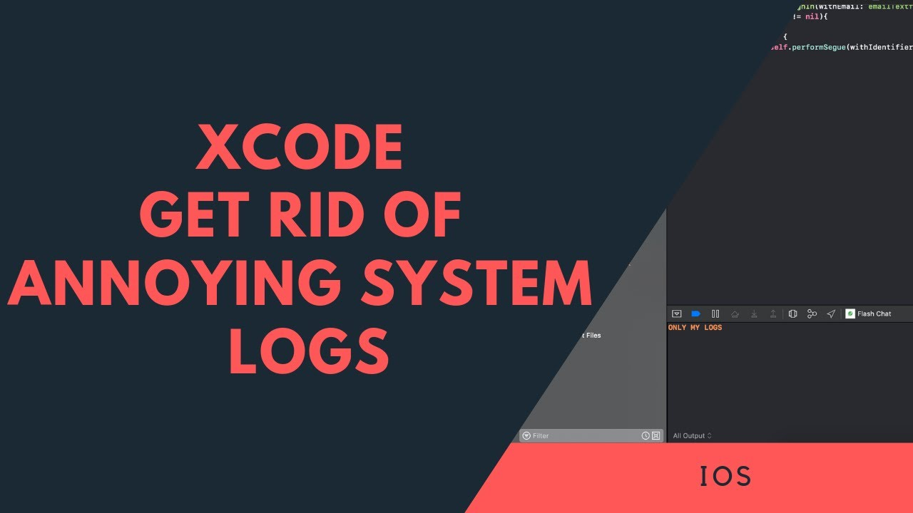 X-code - how to disable of showing system log in debug console