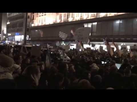 Bagida Demo + Gegendemo in München 19.01.2015 - mit Antifa-Gewalt + USK-Einsatz Schlagstock Polizei