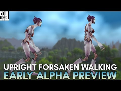 FIRST LOOK! Upright Undead/Forsaken Walking Animations and