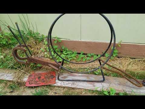 Diy beginner garden art welding art plasma cutter art