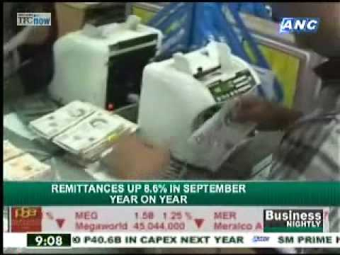 Remittances up 8.6% in Sept