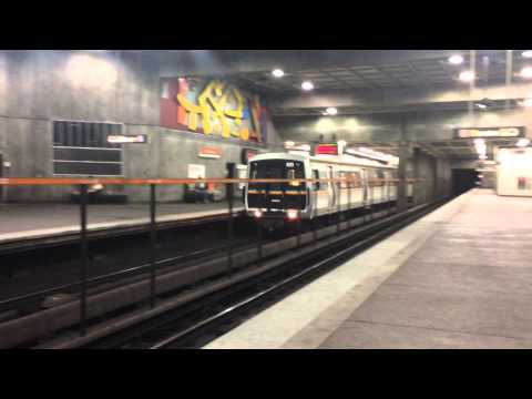 A MARTA Train Arrives @ Midtown witch is in Atlanta,GA