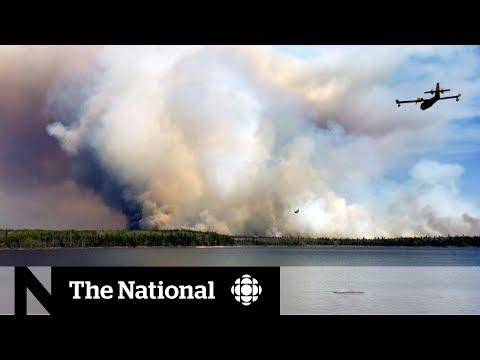 Forest fire traps remote Manitoba community