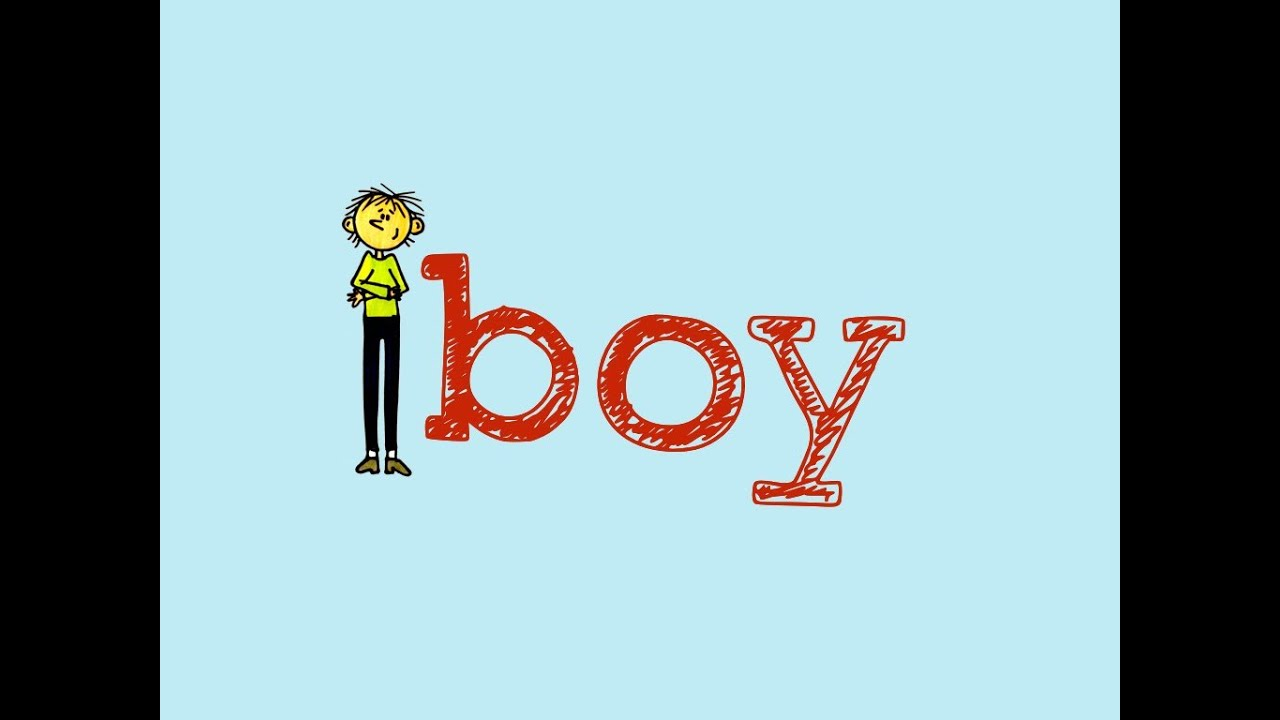 how to draw a boy with the word boy