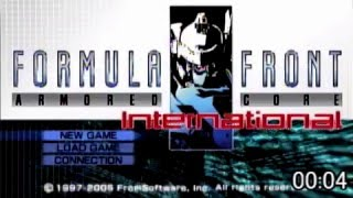 Armored Core Formula Front International any% Speedrun 38:32