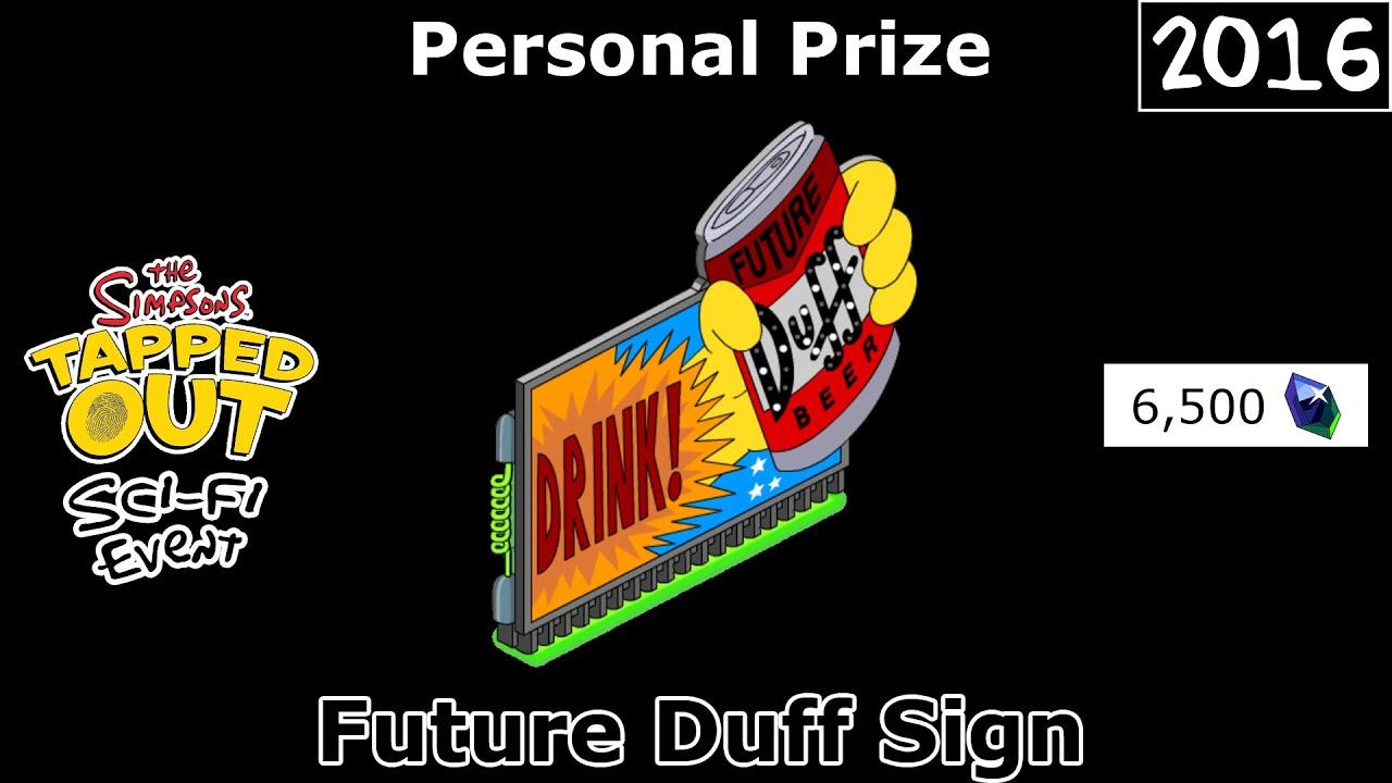Download TSTO - Sci-Fi Event | Future Duff Sign | Personal Prize