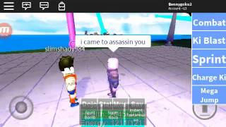 Roblox DBZ Rage GOKU VS HIT!!!!