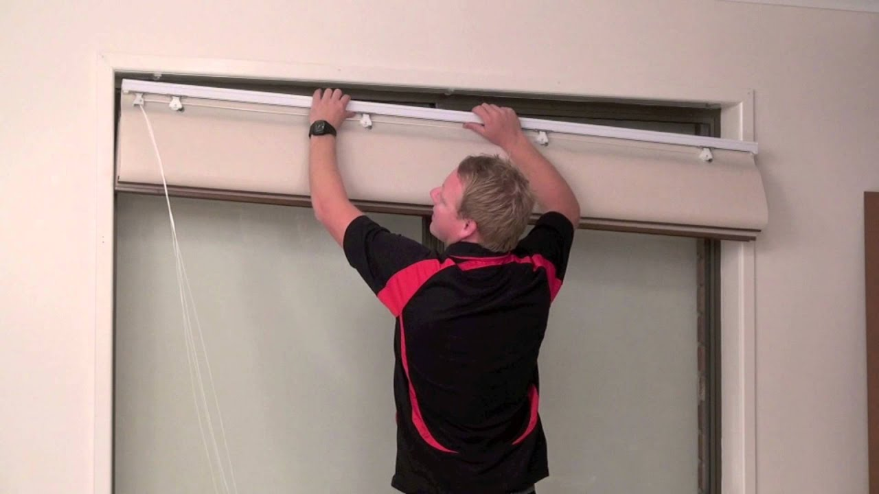 How to install a reveal or recess fit roman blind youtube for Blinds outside recess