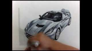 2014 Corvette Stingray drawing