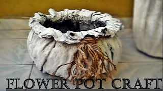 Fabric Concrete Flowerpot Making-2 & Easy and Interesting Method
