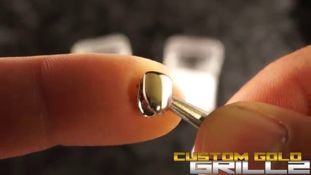 14k Gold and Silver Single (Bottom) Tooth Grills by Custom Gold Grillz -  YouTube 21c7221e3b43