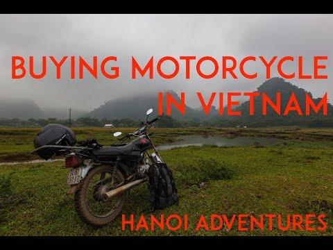 Buying Motorcycle in Vietnam. Hanoi.