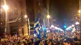 Pioneer Square Seattle after the Super Bowl Go Seahawks!