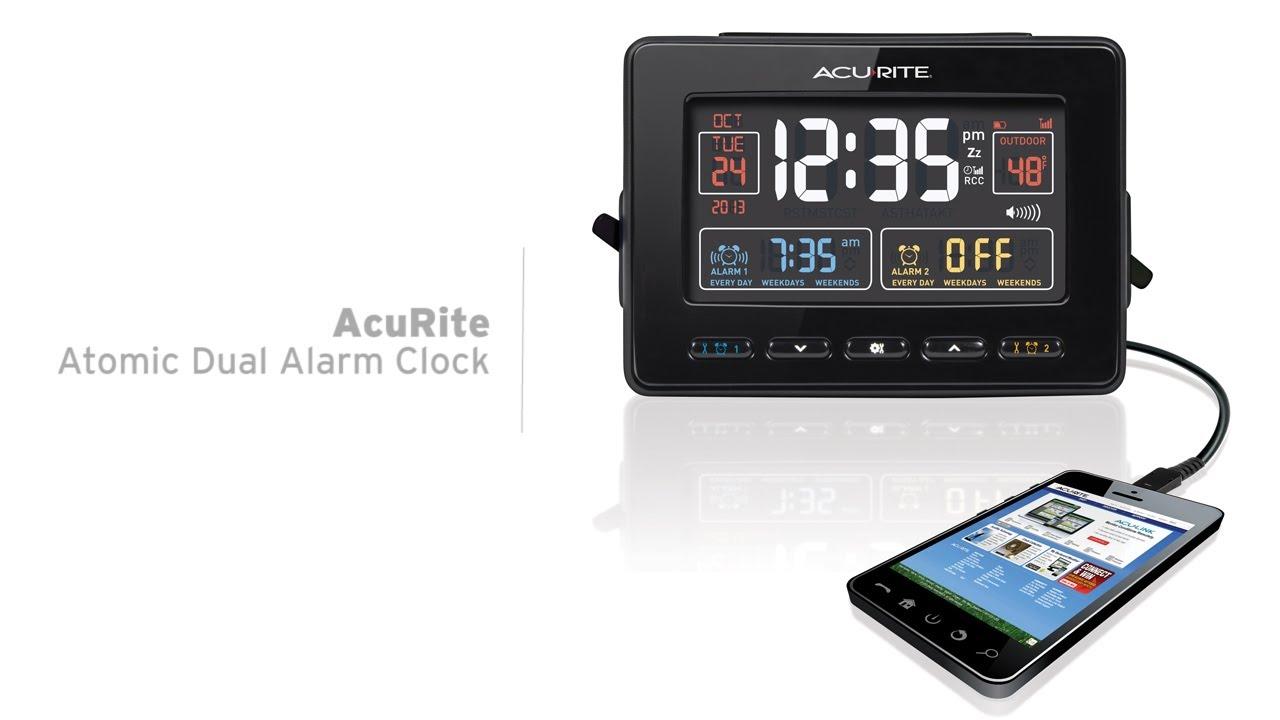 acurite atomic alarm clock instructions