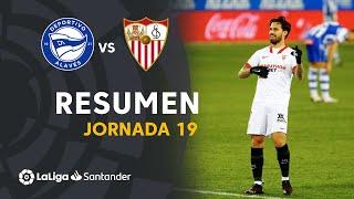Resumen de Deportivo Alavés vs Sevilla FC (1-2)