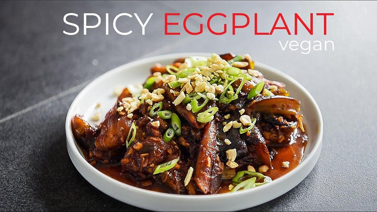 SPICY BRAISED EGGPLANT RECIPE | HOW TO MAKE VEGAN CHINESE EGGPLANT